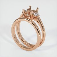 18K Rose Gold Ring Setting - JS915R18