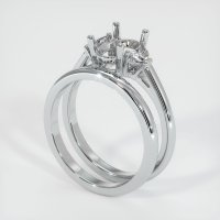 14K White Gold Ring Setting - JS915W14