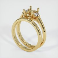 14K Yellow Gold Ring Setting - JS915Y14