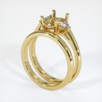 18K Yellow Gold Ring Setting - JS915Y18