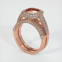 14K Rose Gold Pave Diamond Ring Setting - JS916R14