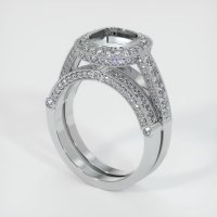 14K White Gold Pave Diamond Ring Setting - JS916W14