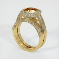 18K Yellow Gold Pave Diamond Ring Setting - JS916Y18