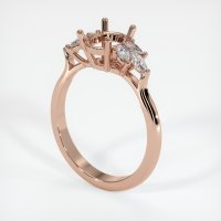 14K Rose Gold Ring Setting - JS919R14