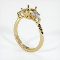 14K Yellow Gold Ring Setting - JS919Y14