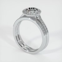 18K White Gold Pave Diamond Ring Setting - JS920W18
