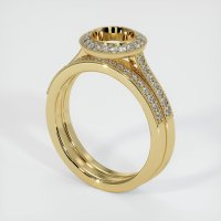 14K Yellow Gold Pave Diamond Ring Setting - JS920Y14