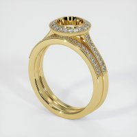 18K Yellow Gold Pave Diamond Ring Setting - JS920Y18