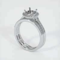 18K White Gold Pave Diamond Ring Setting - JS923W18