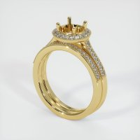18K Yellow Gold Pave Diamond Ring Setting - JS923Y18