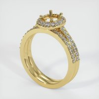 18K Yellow Gold Pave Diamond Ring Setting - JS925Y18