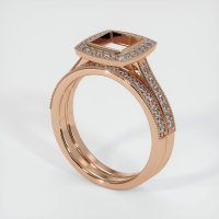 18K Rose Gold Pave Diamond Ring Setting - JS928R18