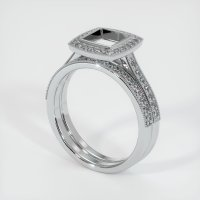 18K White Gold Pave Diamond Ring Setting - JS928W18
