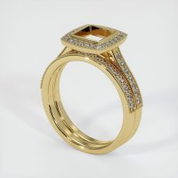 14K Yellow Gold Pave Diamond Ring Setting - JS928Y14