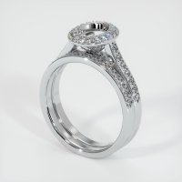 18K White Gold Pave Diamond Ring Setting - JS929W18
