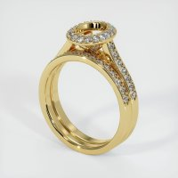 18K Yellow Gold Pave Diamond Ring Setting - JS929Y18