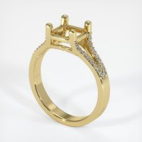 18K Yellow Gold Pave Diamond Ring Setting - JS93Y18