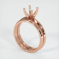 14K Rose Gold Ring Setting - JS934R14