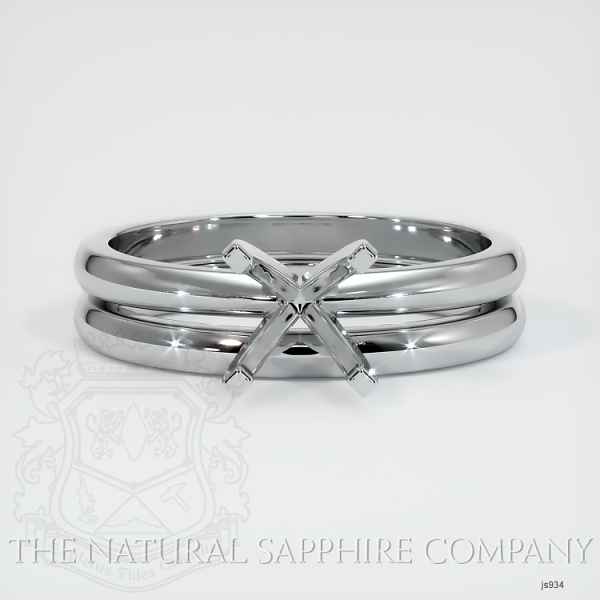 4 Prong Solitaire Wedding Set JS934 Image 2