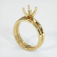 14K Yellow Gold Ring Setting - JS934Y14