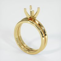 18K Yellow Gold Ring Setting - JS934Y18