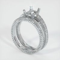 18K White Gold Pave Diamond Ring Setting - JS936W18