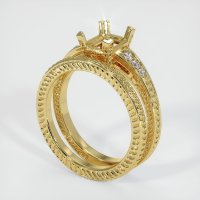 18K Yellow Gold Pave Diamond Ring Setting - JS936Y18