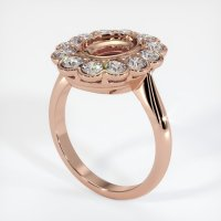 14K Rose Gold Ring Setting - JS940R14
