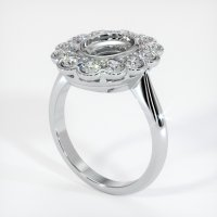 18K White Gold Ring Setting - JS940W18