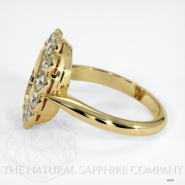 Antique Floral Halo Bezel Ring Setting JS940 Image 3
