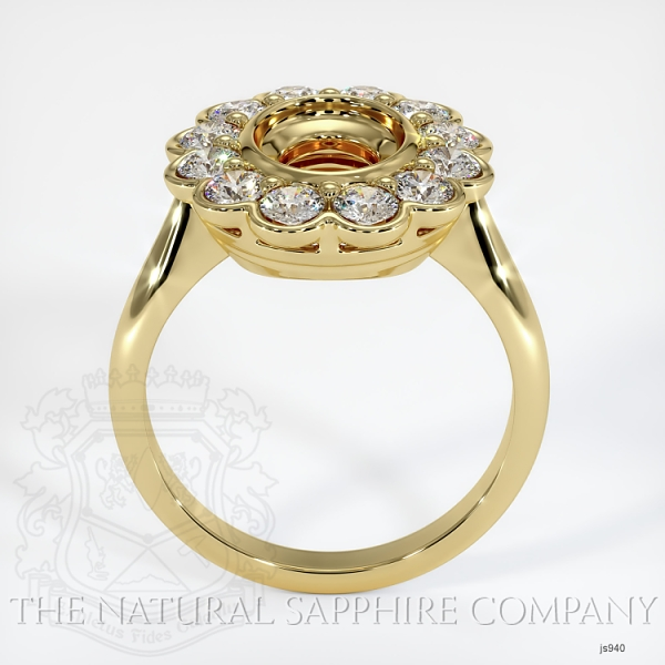 Antique Floral Halo Bezel Ring Setting JS940 Image 4