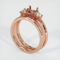 14K Rose Gold Ring Setting - JS941R14