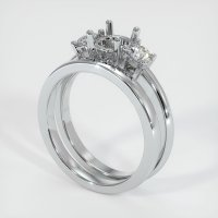 18K White Gold Ring Setting - JS941W18