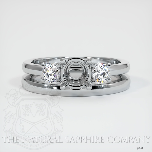 4 Prong Multi Stone Wedding Setting JS941 Image 2