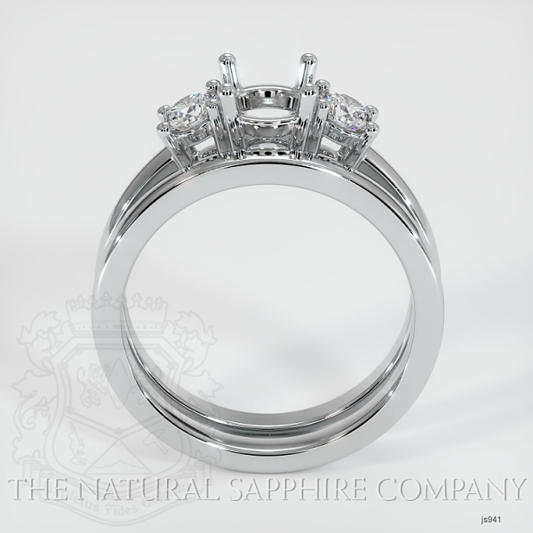 4 Prong Multi Stone Wedding Setting JS941 Image 4