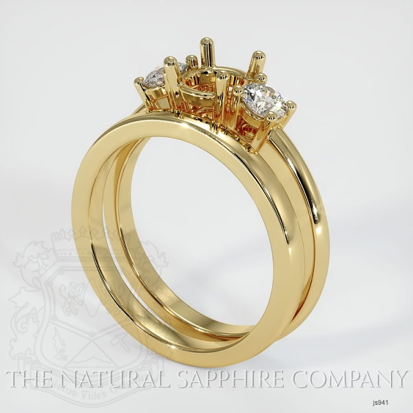 4 Prong Multi Stone Wedding Setting JS941 Image