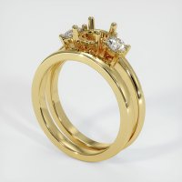18K Yellow Gold Ring Setting - JS941Y18