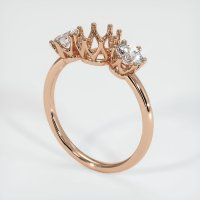 18K Rose Gold Ring Setting - JS943R18