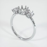 14K White Gold Ring Setting - JS943W14