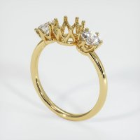 18K Yellow Gold Ring Setting - JS943Y18