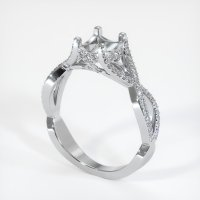 18K White Gold Pave Diamond Ring Setting - JS945W18