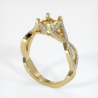 14K Yellow Gold Pave Diamond Ring Setting - JS945Y14