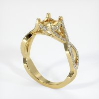 18K Yellow Gold Pave Diamond Ring Setting - JS945Y18