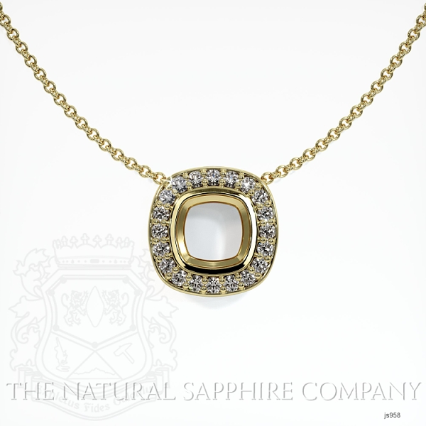 Bezel Set Pave Necklace Setting JS958 Image