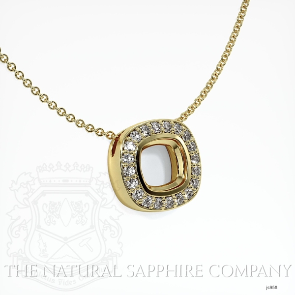Bezel Set Pave Necklace Setting JS958 Image 2