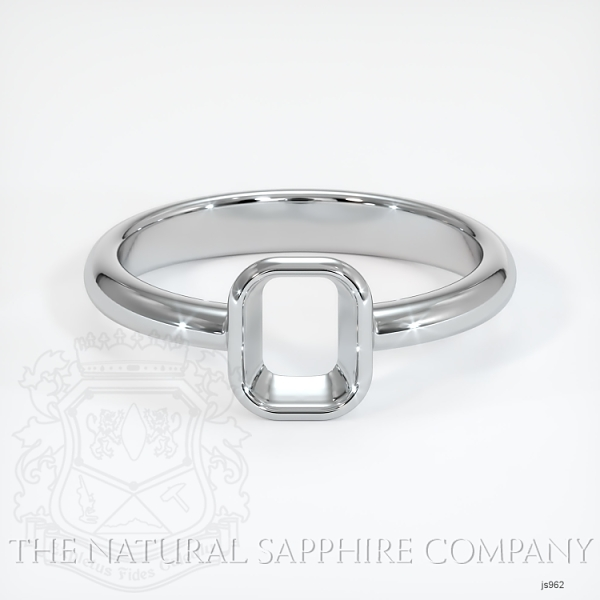 Bezel Set Solitaire Ring Setting JS962 Image 2