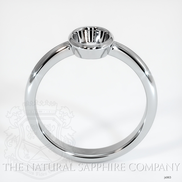 Bezel Set Solitaire Ring Setting JS963 Image 4