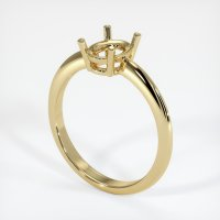 14K Yellow Gold Ring Setting - JS965Y14