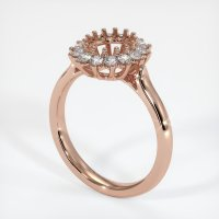 14K Rose Gold Ring Setting - JS972R14