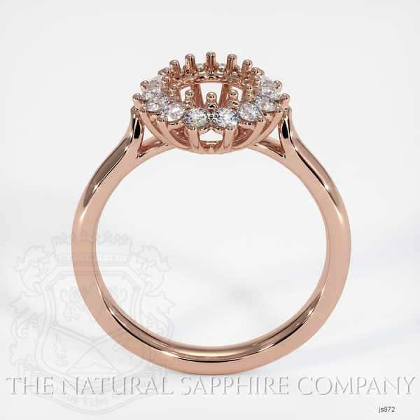 14 Prong Antique Halo Ring Setting JS972 Image 4
